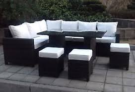 image is loading premium rattan garden corner sofa set with dining