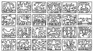 Small Picture Keith haring 4 Master pieces Coloring pages for adults JustColor