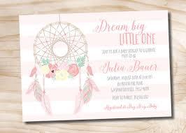 Dream Catcher Baby Shower Invitations Dreamcatcher Baby Shower Invitation boho Navajo Aztec 1
