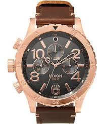 nixon watches get shipping at zumiez bp nixon 48 20 leather chronograph watch