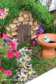 cute diy fairy gardens open doors to