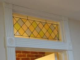 custom made stained glass transom window panel classic pastel diamonds tw 24