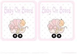 Baby On Board Car Sign Girl In Pram by Audrey Rae: Amazon.co.uk: Kitchen &  Home