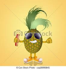 pineapple with sunglasses clipart. funny pineapple with sunglasses - csp28990845 clipart