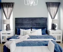 Grey And Navy Blue Bedroom Photo   1