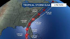 Heavy, all-day rain from Elsa could ...