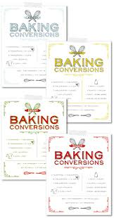 Free Printable Vintage Baking Conversions Chart The Cake