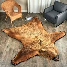 for how to make a fake bear skin rug faux polar with head
