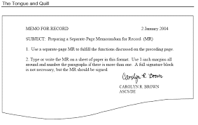 Memo Template Extraordinary Memo For Record MFR Format