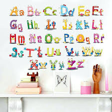 puzzle wall art puzzle early education paste alphabet wall stickers for kids rooms cartoon art bedroom puzzle wall art