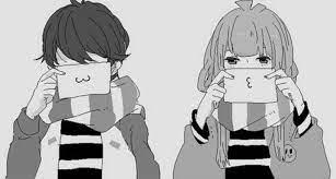 Monochrome kawaii couple - Anime Love ...