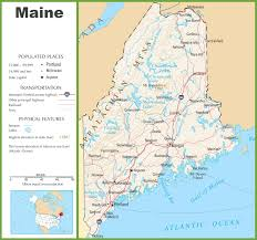 maine state maps  usa  maps of maine (me)