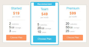Pricing Table Templates Plans And Pricing Table Html Template Designssave Com