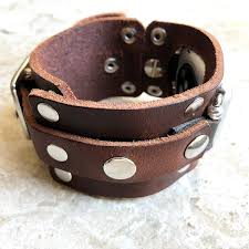 brown distressed leather band strap bracelet cuff watchband for apple watch 38mm 40mm 42mm 44mm iwatch 1 2 3 4 nike hermes edition rockstyle