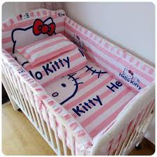 baby bed set per cotton beautiful baby bedding set pink striped cartoon cat comfort cot sheet baby girl bedding sets pers