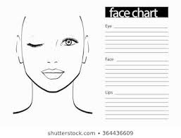 Makeup Artist Eye Charts Face Chart Makeup Artist Blank Template Vector