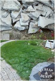 diy recycled concrete patio burlap denim