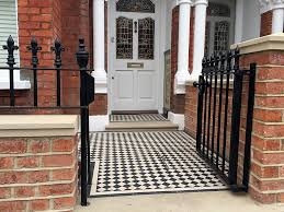 Small Picture Red Brick Front Garden Wall Heavy Rails Gate Victrorian Mosaic