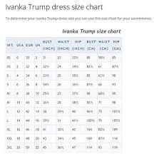 2 Ivanka Trump Dress Size Chart Ivanka Trump Dress Size