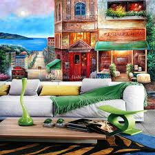 european wall murals street painting photo wallpaper personalized