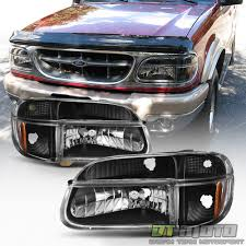 All Chevy 95 chevy headlights : Blk 1995-2001 Ford Explorer 97 Mountaineer Headlights Corner Lamps ...