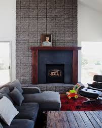 cool fireplace mantel kits in living room midcentury with interior brick walls next to fireplace mantel decorating
