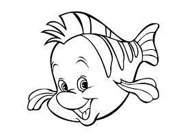 Disegni Per Bambini Pesce Flounder Da Colorare Disegni Da Colorare