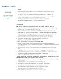 Teaching Resume Stunning Teacher Resume