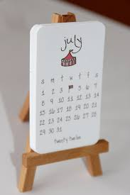 2016 calendar mini doodle desk calendar with wooden easel