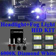 ford aspire xenon lights new 4x bi xenon hid headlight kit dbk hi lo beam fog light h4 880 881 6000k fits ford aspire