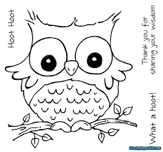 Owlng Pages For Adults Free Printable Cartoon Stunning Owl Coloring