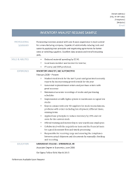 Resume For Analyst Job Amusing Inventory Analyst Job Resume On Business Intelligence 37