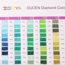 Dmc Chart Zooya 5d Diy Diamond Painting Color Chart Square Round Diamond Embroidery Dmc Chart Finished