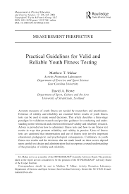 pdf practical guidelines for valid and reliable youth fitness testing