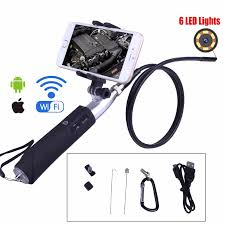 A 8mm camera with a waterproof probe. Wifi Endoscope Camera 8mm For Iphone Android Borescope Waterproof Tube Inspection Endoscope Camera With Mobile Phone Holder Surveillance Cameras Aliexpress