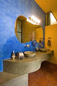 Trendy Twist to a Timeless Color Scheme: Bathrooms in Blue and Yellow