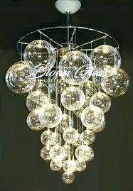 modern globe chandelier