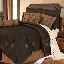 laredo star western bedding comforter chocolate