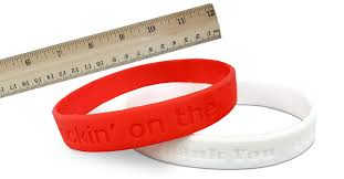 Rubber Bracelet Size Chart From Wristband Bros