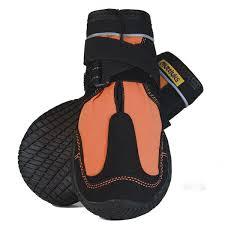 Muttluks Snow Mushers Dog Boots Orange