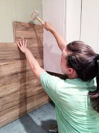 DIY Laminate Back Splash // Wood Walls Are A Total Normal Thing Now. I