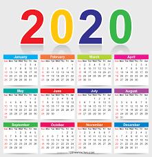 2020 Calendar Editable 210 2020 Calendar Vectors Download Free Vector Art