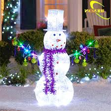Fullsize of Peachy Light Decorations Design Outdoor Decoration Snowman Frantic Lighted