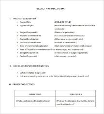 Project Proposal Example Template Business