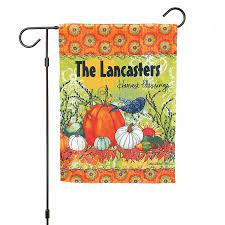 personalized garden flags