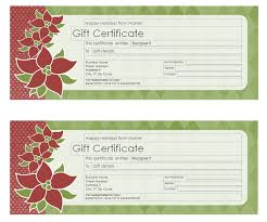 Christmas Gift Certificate Template Christmas Gift Certificate