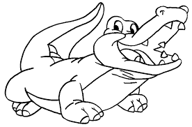 Small Picture Crocodile Coloring Pages Get Coloring Pages