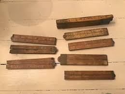 old vintage antique carpenter s wood yardsticks folding tools rulers woodworking