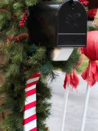 Candy Cane Outdoor Christmas Decorations 60 DIY Outdoor Holiday Decorating Ideas HGTV's Decorating 53