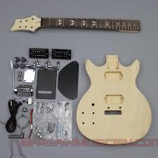 details about bargain ian gk 008l left hand diy unfinished project luthier guitar kit